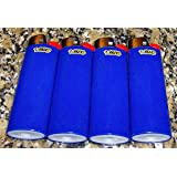Lot of 4 Bic Blue Classic Full Size Lighters New by BIC