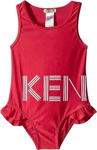 96ed6ad838 Kenzo Kids Baby Girl's Swimsuit Logo (Toddler) Fuchsia 2A (2 Toddler ...