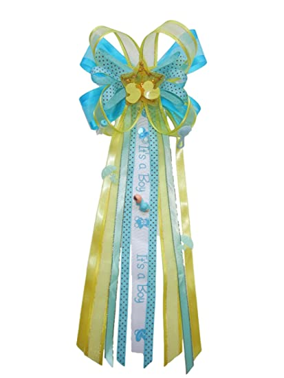 Its a Boy Duck Baby Shower Ribbon Corsage
