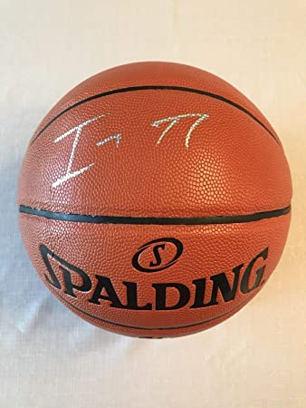 913d3bf05cbf Image Unavailable. Image not available for. Color  Isaiah Thomas Lakers  Autographed Signed Official Nba Replica Basketball Memorabilia JSA COA