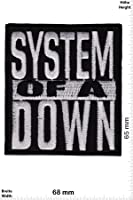 Patch - System of a Down - silver - Musicpatch - Rock - Vest - Patches - Iron on Patch - Applique embroidery Écusson brodé Costume Cadeau- Give Away