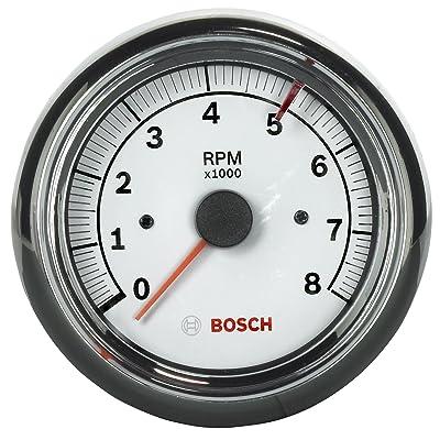 "Bosch SP0F000020 Sport II 3-3/8"" Tachometer (White Dial Face, Chrome Bezel): Automotive"