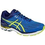 Asics GelPursue 2 (4E) Mens Running Shoe Electric Blue-Flash Yellow-Navy