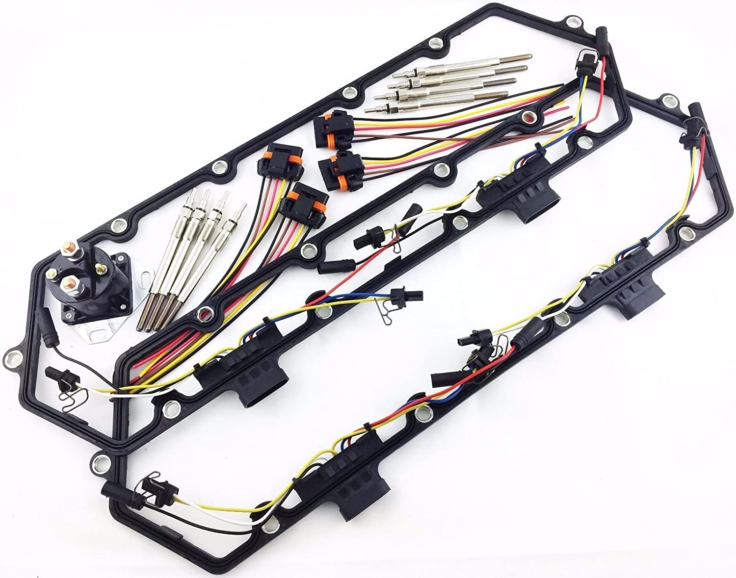 Amazon.com: 94-97 ECONOLINE DIESEL E250 E350 E450 7.3 GLOW PLUG SET GASKETS  HARNESS RELAY SD: Automotive