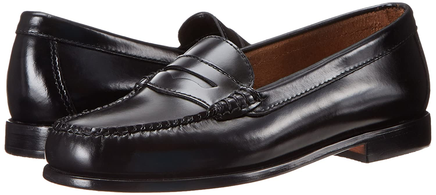 Bass Womens Wayfarer Black Leather Penny Loafer - 7 M