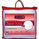 Dodo 27156 220/240 Couette Chaleur Active Blanc + Quadrillage en Fil de Carbone 220 x 240 cm