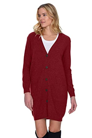 410aabfa8a7 State Cashmere Women s 100% Pure Cashmere V Neck Fashion Long Cardigan  (Small