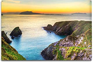 product image for Lantern Press Sunset Over Dunquin Bay on Dingle Peninsula, Co. Kerry, Ireland 9003282 (6x9 Aluminum Wall Sign, Wall Decor Ready to Hang)