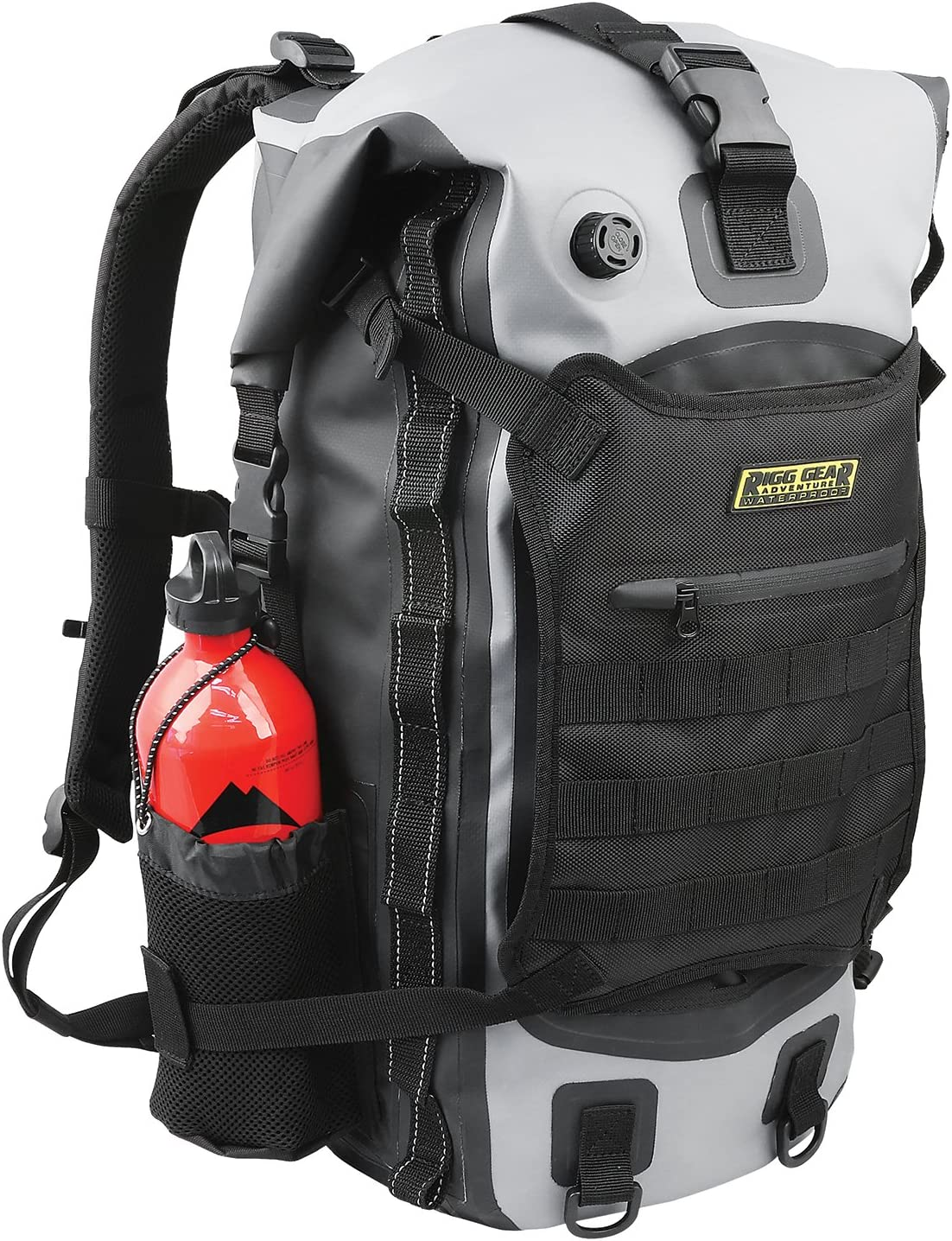 Nelson-Rigg SE-3040 40 Liter Gear Hurricane 40L Waterproof Backpack/Tail Pack, Black