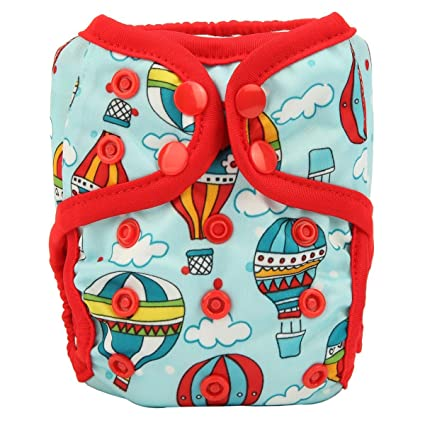 Air Balloons Premium Baby Cloth Nappy Reusable Double Gusset 4 layer insert