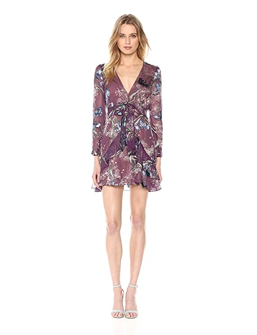 a1c9b69d65d For Love & Lemons Women's Cleo Floral Party Dress, Violet Orchid, S ...