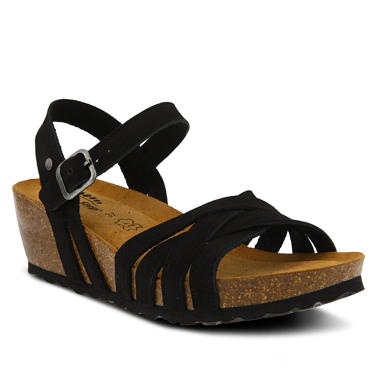 Spring Step Women's Style Eryn Leather Sandal B07BMFC6FF 38 EU M/ US 7.5-8|Black