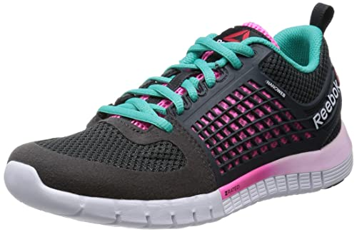 ac4fccf9656ea Reebok ZQUICK ELECTRIFY Womens Running Shoe Size UK 6.5  Gravel Black Electro Pink