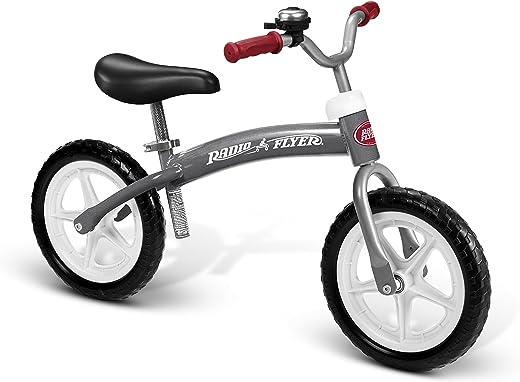 Radio Flyer Balance Bike Glide and Go, Gray