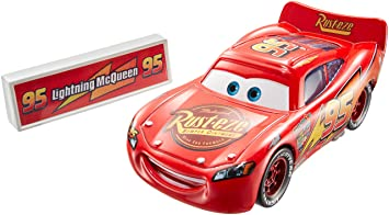 disneypixar cars movie moments lightning mcqueen with pit stop barrier die cast vehicle - Cars The Movie Lightning Mcqueen