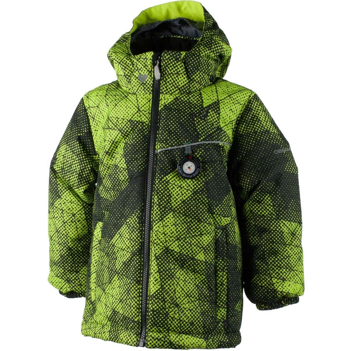 Obermeyer Boys Stealth Jacket (Green Mesh Print / 4) by Obermeyer
