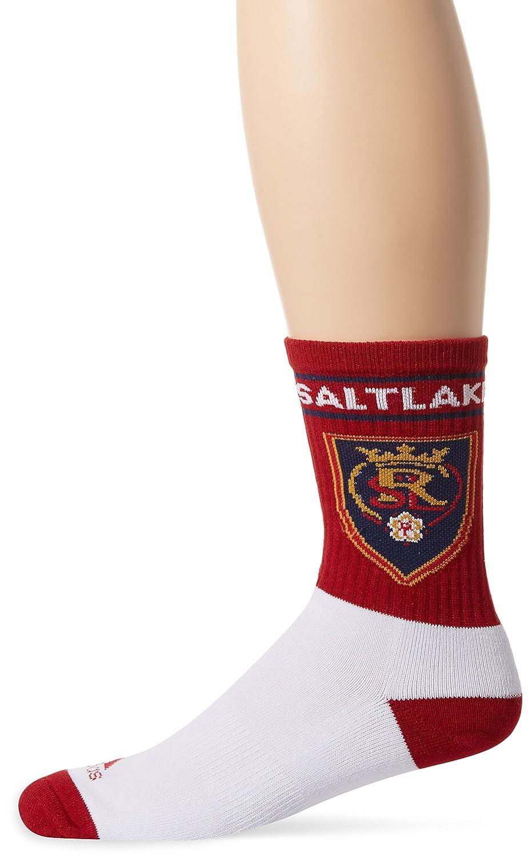 MLSメンズチーム名&ロゴクルーソックス B0744LL2VJ Size 9-11|レッド|Real Salt Lake レッド Size 9-11