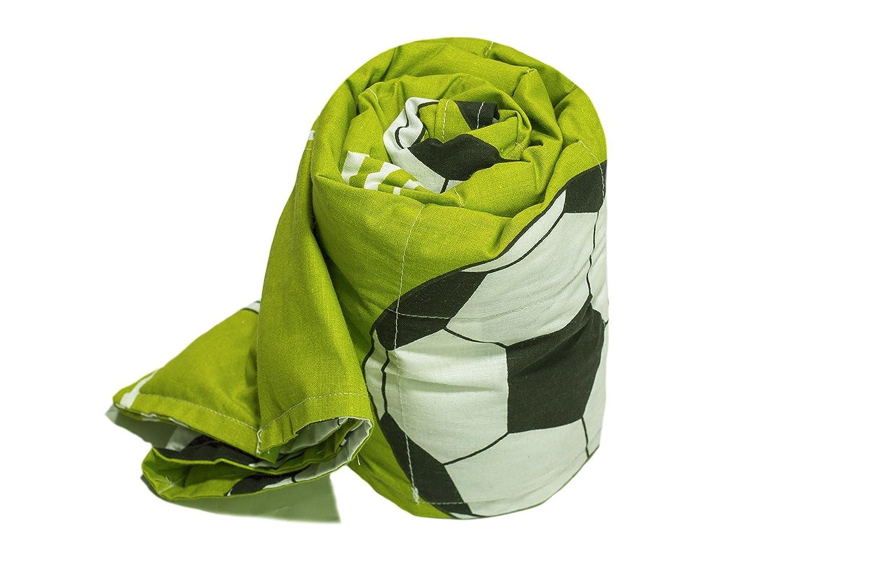 TherapieDecke - Fußbälle Gewichtsdecke - Schwere Decke für Kinder Jugendliche mit Schlafproblemen und Funktionsstörungen, Größe  110x170 cm, 5 kg