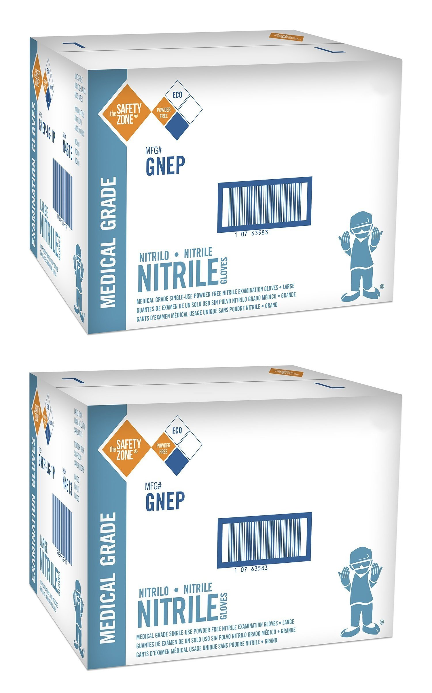 Nitrile Exam Gloves - Medical Grade, Powder Free tbedkl, Latex Rubber Free, Disposable, Non Sterile, Food Safe, Indigo (purple), Medium, 2000 Gloves