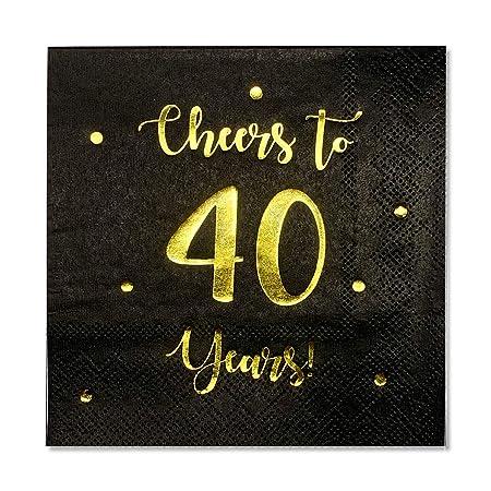 Servilletas de cóctel Cheers to 40 Years | decoraciones de ...