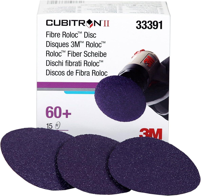 Cubitron 3M II Roloc Fibre Disc 786C, 33391, 3 in (75 mm), 60+, 15 Discs per Carton