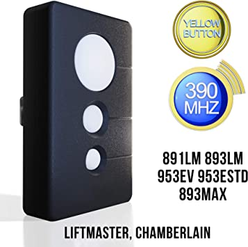 Compatible Sears Craftsman Garage Door Opener Remote Chamberlain Liftmaster Transmitter Control 891lm 893lm 953ev 953estd 893max Myq Security 2 0 Compatible Program With Yellow Learn Button Amazon Com