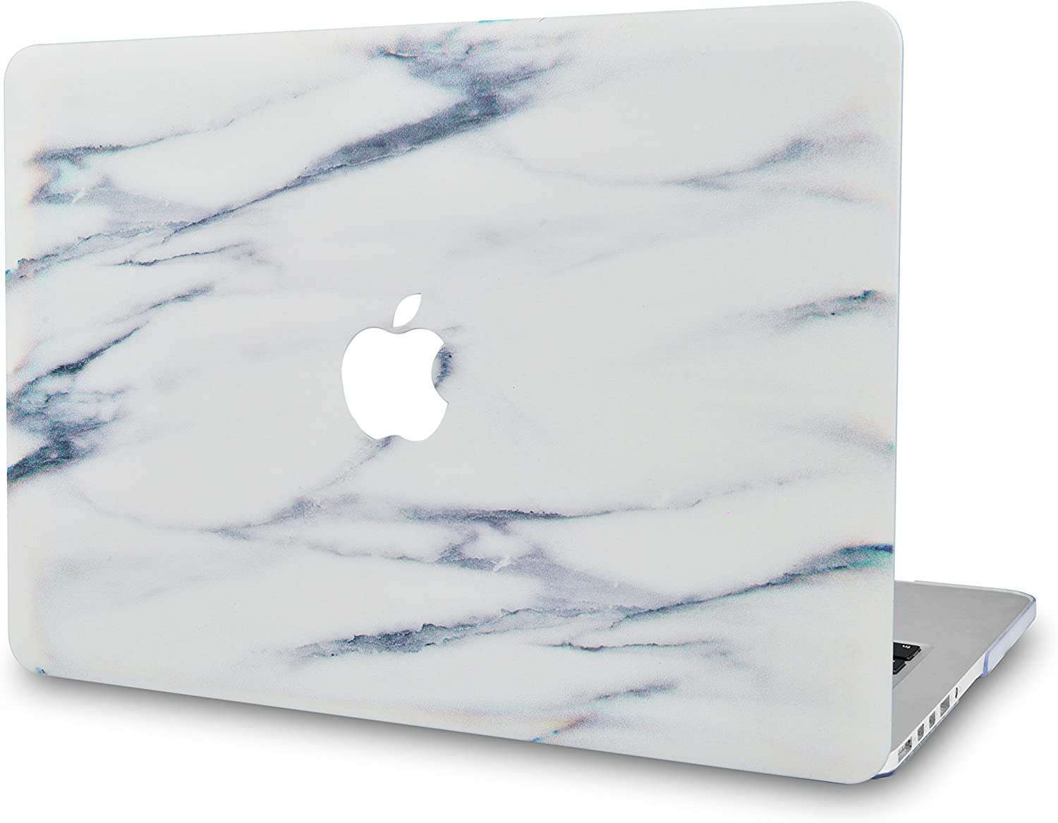 LuvCase Laptop Case for MacBook Air 13 Inch (2020/2019/2018) A2179/A1932 Retina Display (Touch ID) Rubberized Plastic Hard Shell Cover (Crystal Marble)