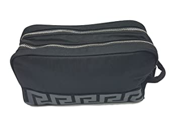 f8bf17a91dde Versace Men's Black Beauty Toiletry Bag Travel Overnight Wash Gym ...