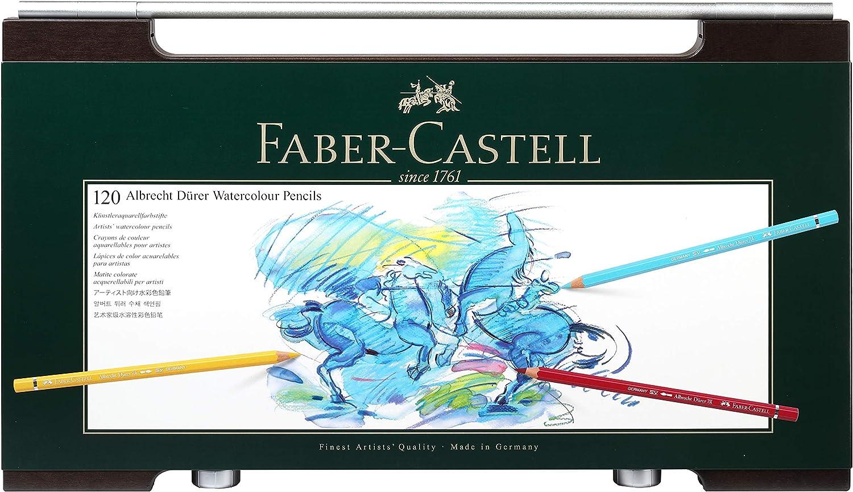 Faber-Castell 120 Albrecht Dürer Artists' Watercolour Pencils in Wenge - Stained Wooden Case