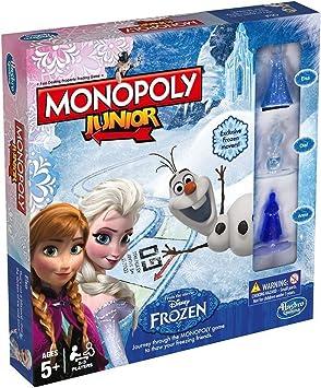 Monopoly Junior Edición Frozen Disney Juego para Niños: Amazon.es: Juguetes y juegos