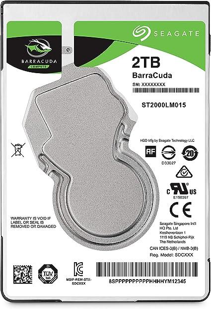 Seagate BarraCuda, 2TB, Unidad de disco duro interna, HDD, 2.5 in ...