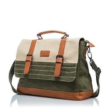 Glacial viajes Messenger Bag – lienzo algodón bolsa de hombro para hombres – Portátil de 15