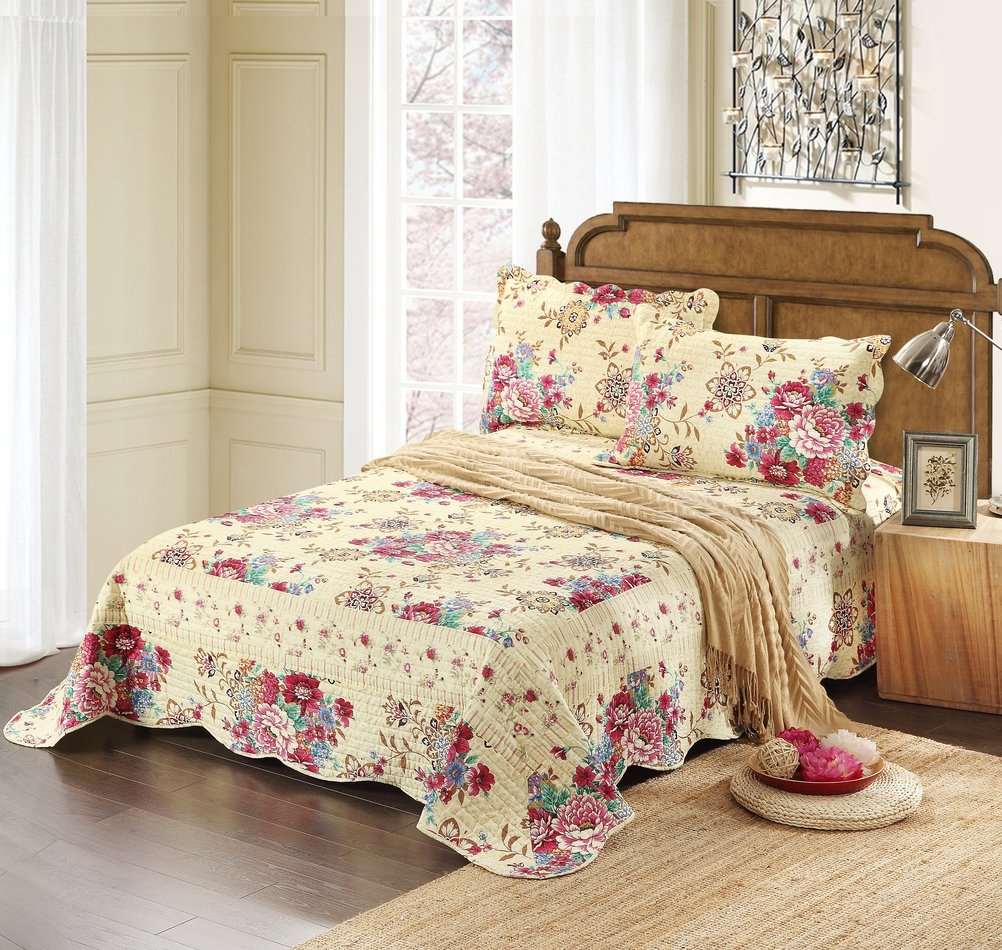 Reversible Bedspread Quilt Set, California King