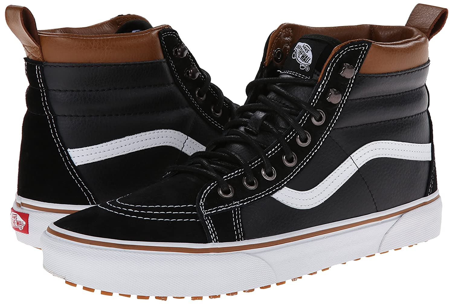 Vans Sk8-Hi Shoes, Unisex Casual High-Top Skate Shoes, Sk8-Hi Comfortable and Durable in Signature Waffle Rubber Sole B00HJBRBVO 8.5 M US Women / 7 M US Men|(Mte) Black/True White 069b9b