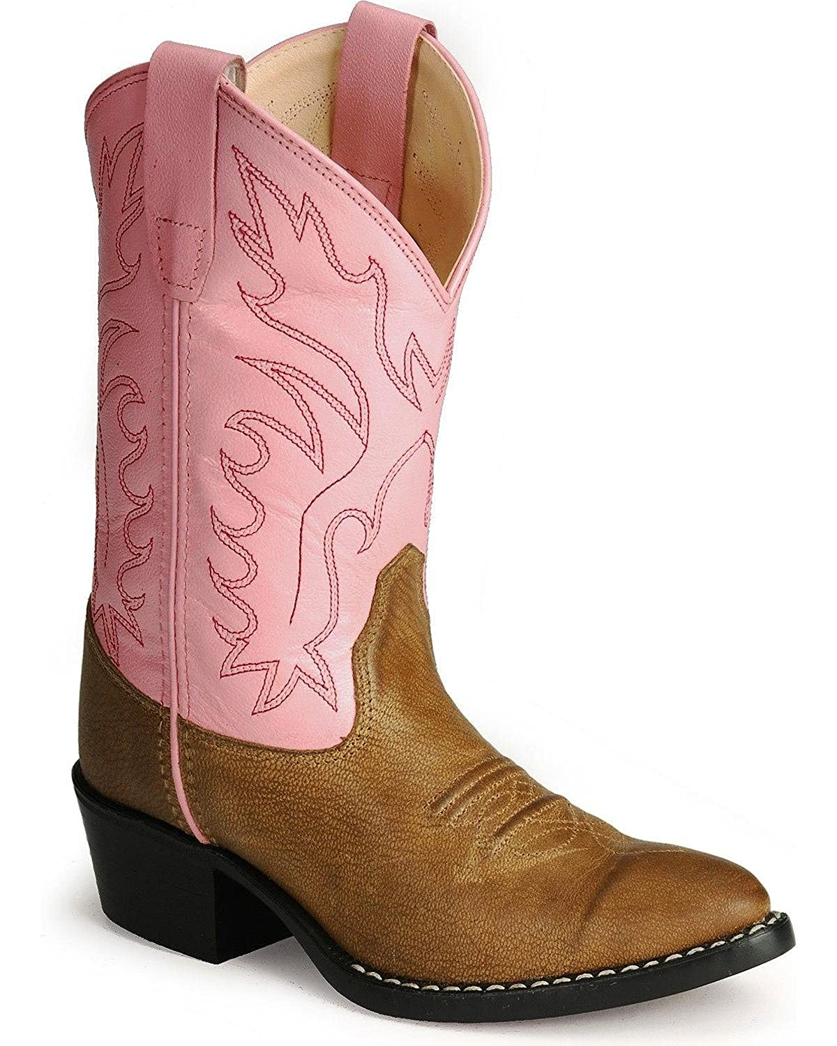 quite nice classic fit reasonable price Girls Leather Cowboy Boots in Pink & Brown 9 M US Toddler