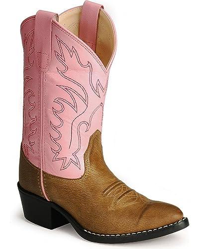 087beedd75e Old West Girls' Corona Calfskin Cowgirl Boot