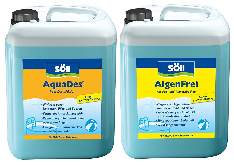 Soll Wasserpflege Set Aquades Und Algenfrei Fur Pools Schwimmbad