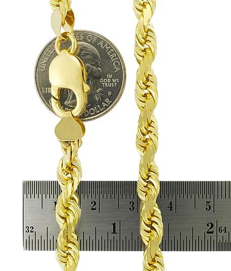 Amazon.com: Pulsera de cadena de oro amarillo de 14 quilates ...
