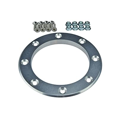 "ICT Billet 4"" Inch Exhaust Pipe Fender Exit Bezel Turbo Downpipe Dump Trim Ring Billet Flange 551194: Automotive"