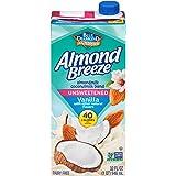 Blue Diamond Almonds Breeze Dairy Free Almondmilk Blend, Unsweetened Vanilla Almond Coconut, 384.0 Fl Oz 1