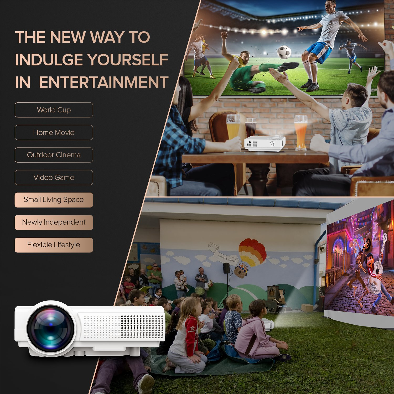 tenker Q5 proyector, 1500 lúmenes LCD portátil de Cine en casa ...