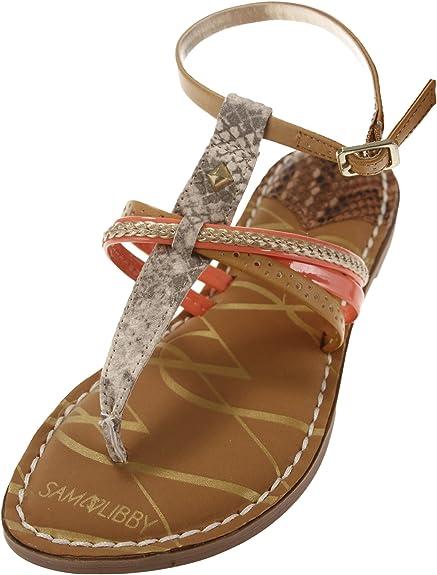 Sam /& Libby Women/'s Kori Double Strap Slip On Flip Flops Sandals Many Colors