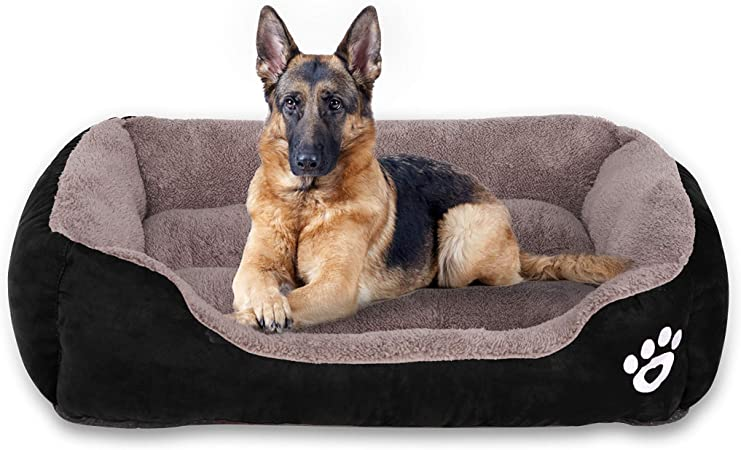 Dog Bed, Waterproof Comfortable and Warm Dog Bed for Medium Large ...