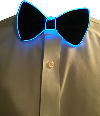 LED Light EL Bow Tie Fashion Christmas Halloween New Years Music Festival Party