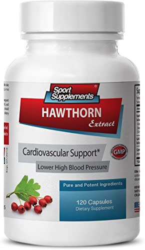 Hawthorn Extract 500 mg – Hawthorn Berry Extract 120 Capsules – Controls Blood Pressure 1 Bottle
