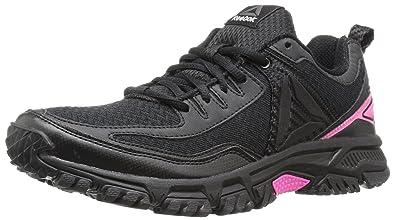 f07ca9bcdc4b6 Reebok Women s Ridgerider Trail 2.0 Track Shoe Black Solar Pink Silver Pewter  5