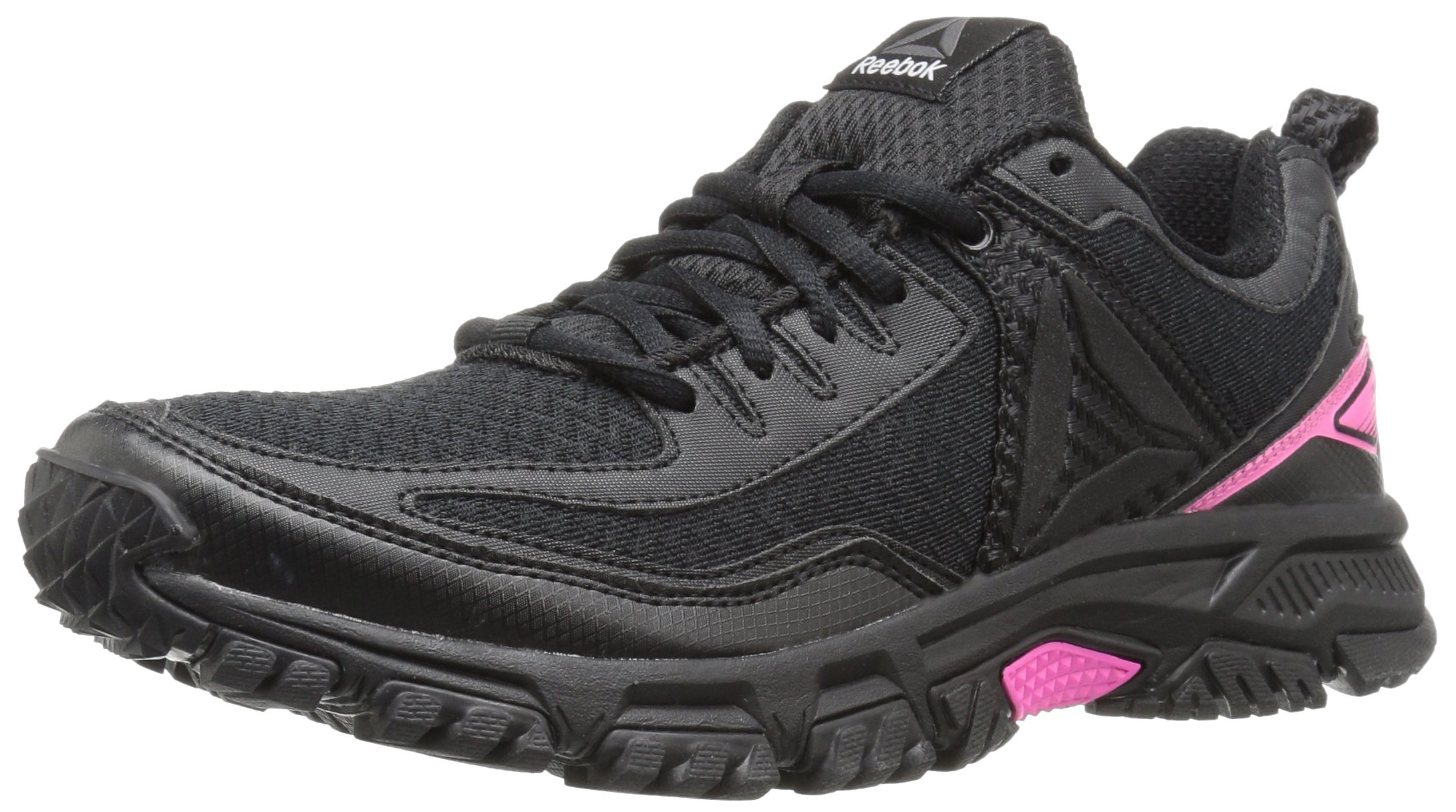 Reebok Women's Ridgerider Trail 2.0 Track Shoe, Black/Solar Pink/Silver/Pewter, 10.5 M US