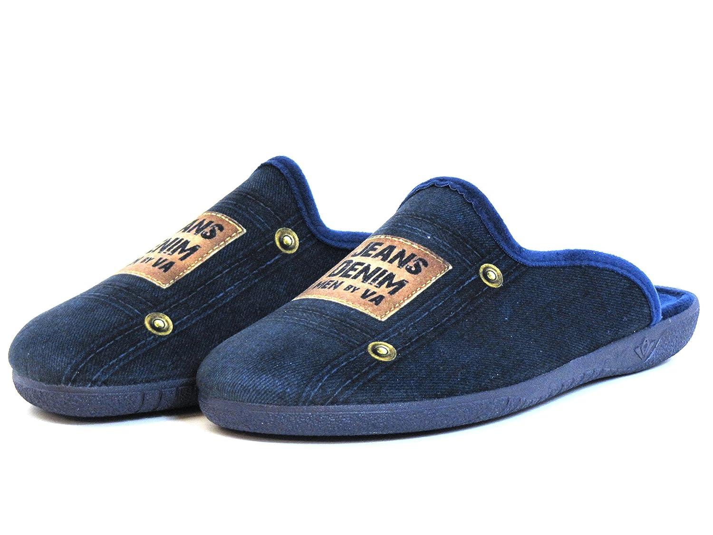 Miro Men slippers blue, (blau-kombi) 422807-3 BLUE: Amazon.ca: Shoes &  Handbags