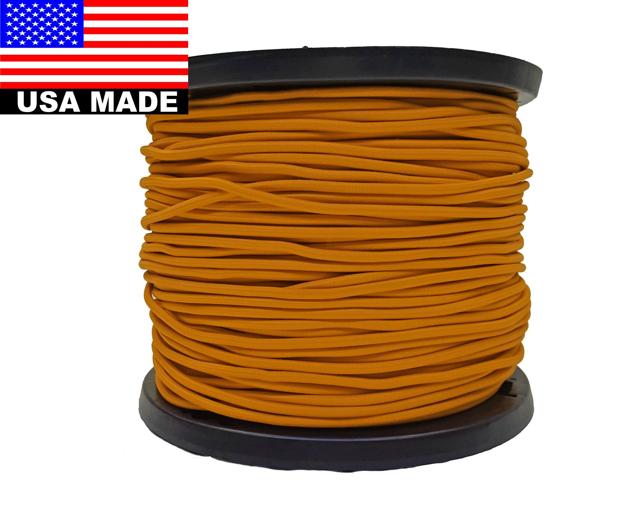 Bungee Cord 6mm (1/4'') Bulk Colored - 328' Roll (Orange) by BNG Distributors