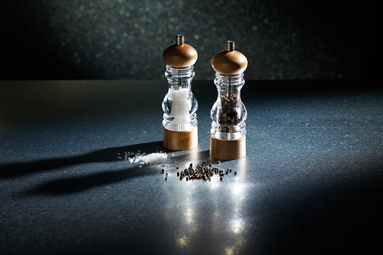 KitchenCraft MasterClass Pepper Mill Transparent//Beige 18 cm//13 g